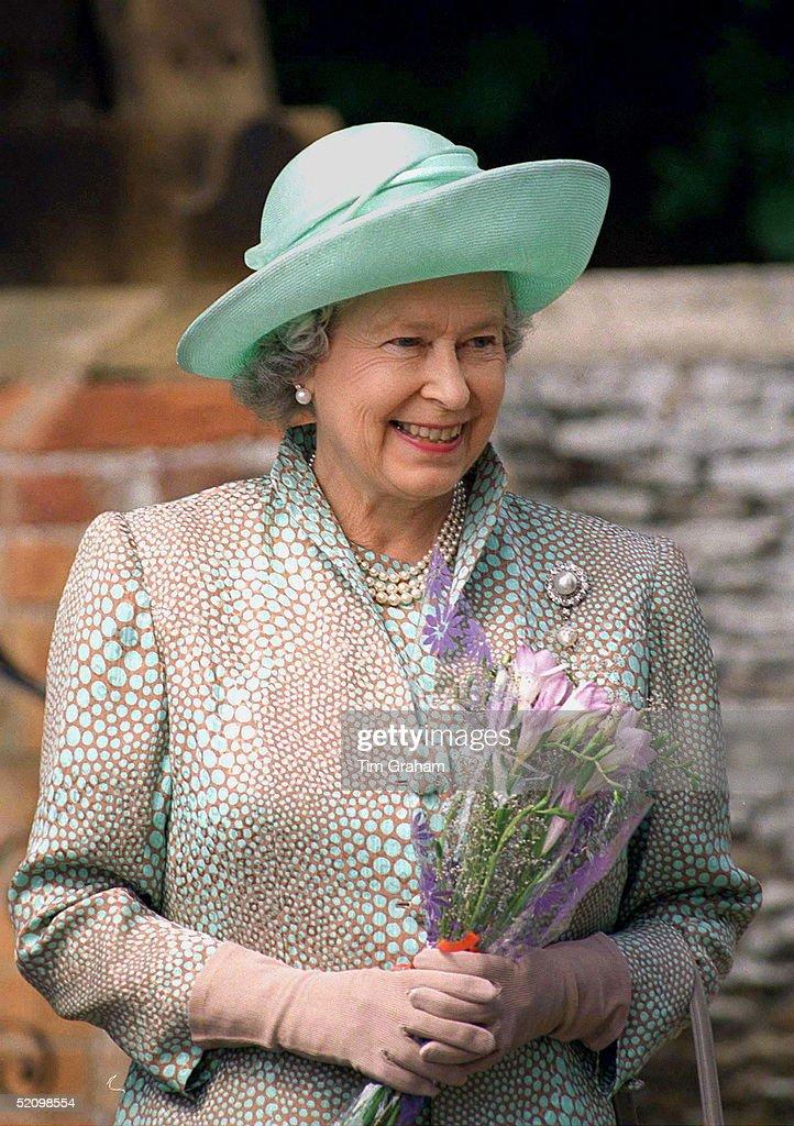 Queen At Sandringham : News Photo