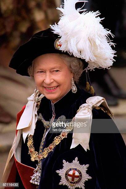 The Queen At The Garter Ceremony In Windsor