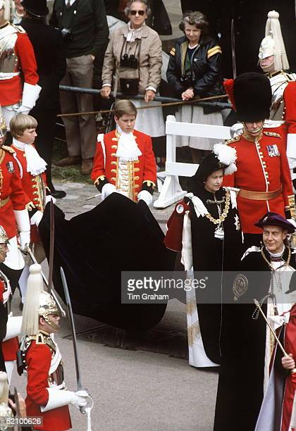 The Queen At The Garter Ceremony Windsor