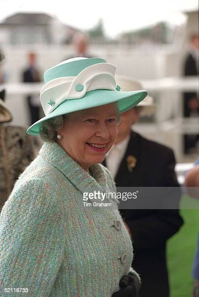 The Queen At The Vodafone Derby Epsom Racecourse Surrey