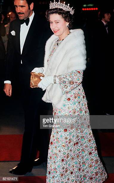 The Queen Attending A Premiere In The West End Circa 1973