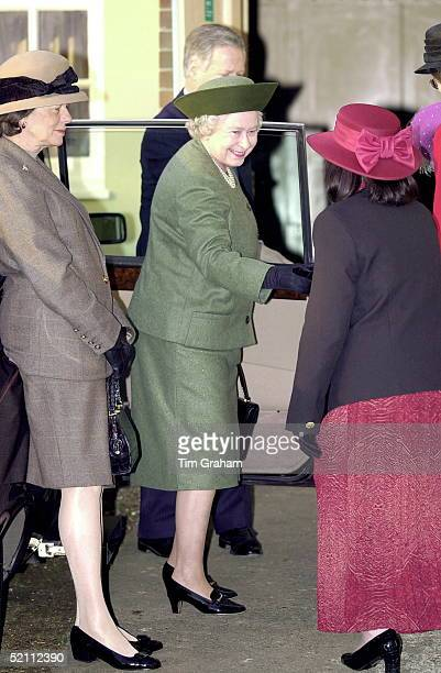 The Queen Attending A Womens' Institute Afternoon Tea At West Newton Village Hall On The Edge Of The Queen's Sandringham Estate