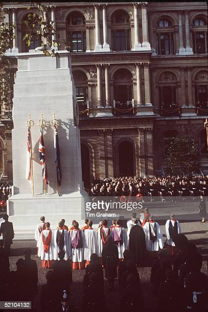 The Queen Attending The Cenotaph Ceremony