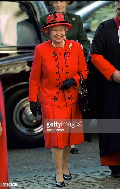 The Queen Attending The Commonwealth Observance At Westminster Abbey, London.