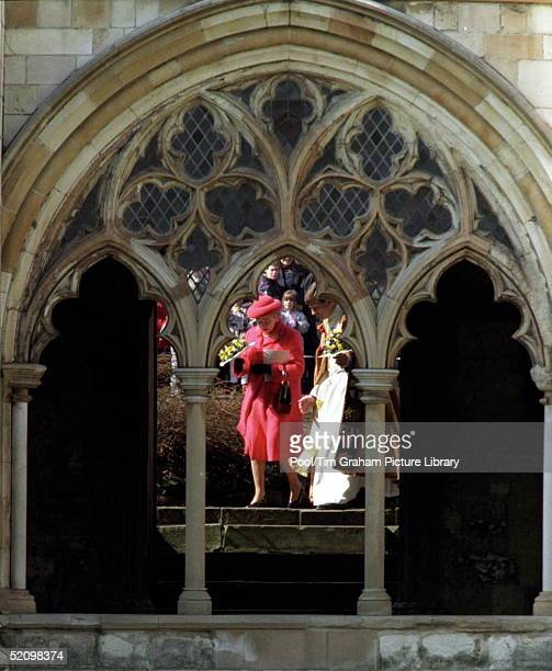 The Queen Attending The Maundy Service At Norwich Cathedral