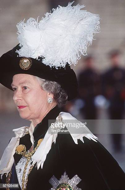 The Queen Attending The Order Of The Thistle