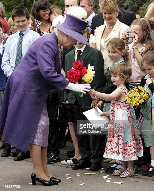 The Queen Attends The Falklands 25Th Anniversary Service Of Thanksgiving Remembrance Liberation Day At The Falkland Islands Memorial Chapel In...