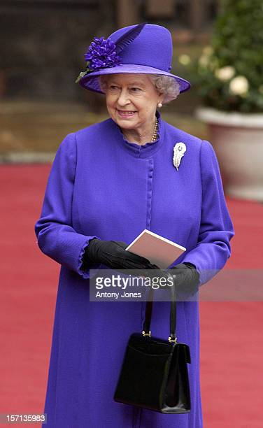 The Queen Attends The Wedding Of Lady Tamara Katherine Grosvenor Edward Van Cutsem At Chester Cathedral