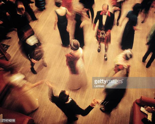 HM The Queen dancing at the Ghillies Ball at Balmoral Castle Scotland during the Royal Family's annual summer holiday in September 1971 Part of a...