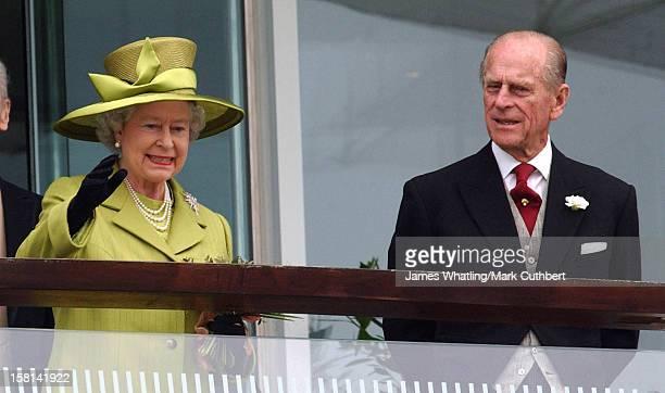 The Queen & Duke Of Edinburgh Attend The 2002 Epsom Derby. .