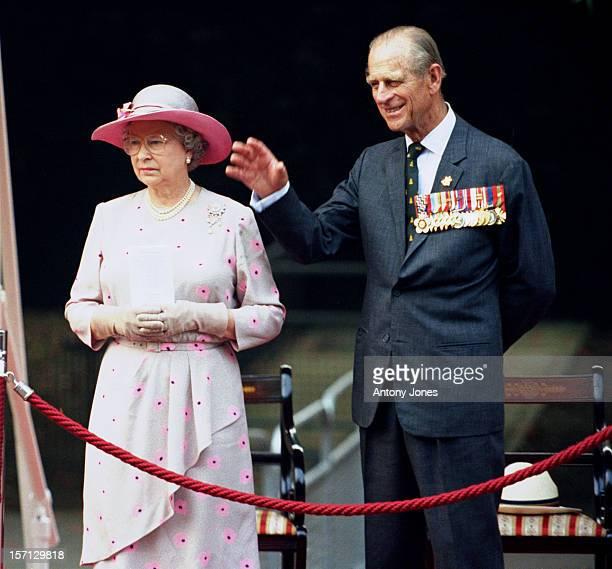 The Queen Duke Of Edinburgh Attend The Vj Day 50Th Anniversary Celebrations In London