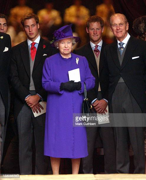 The Queen Duke Of Edinburgh Prince William Prince Harry Attend The Wedding Of Lady Tamara Katherine Grosvenor Edward Van Cutsem At Chester Cathedral