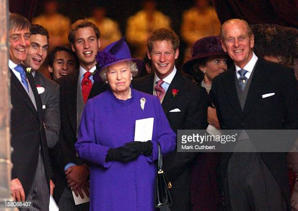 The Queen Duke Of Edinburgh Prince William Prince Harry The Duke Of Westminster Attend The Wedding Of Lady Tamara Katherine Grosvenor Edward Van...