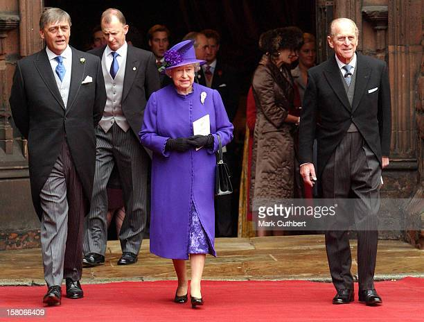 The Queen Duke Of Edinburgh The Duke Of Westminster Attend The Wedding Of Lady Tamara Katherine Grosvenor Edward Van Cutsem At Chester Cathedral