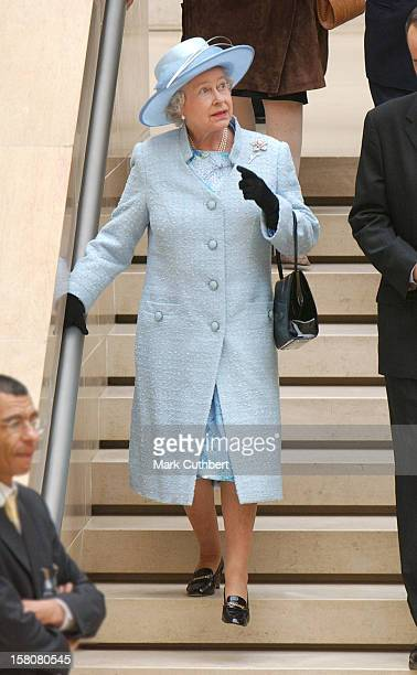 The Queen Duke Of Edinburgh View British Art And Attend A Reception For British And French Community At The Palais Du Louvre During Their State Visit...