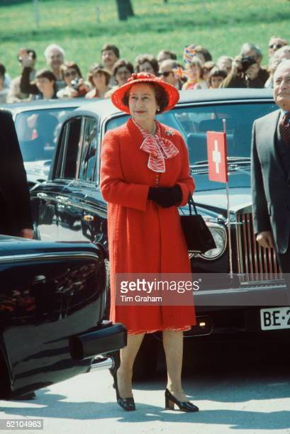 The Queen During A Tour Of Switzerland She Is There To Visit The Red Cross Headquarters Tour Dates 29 April 2 May 1980