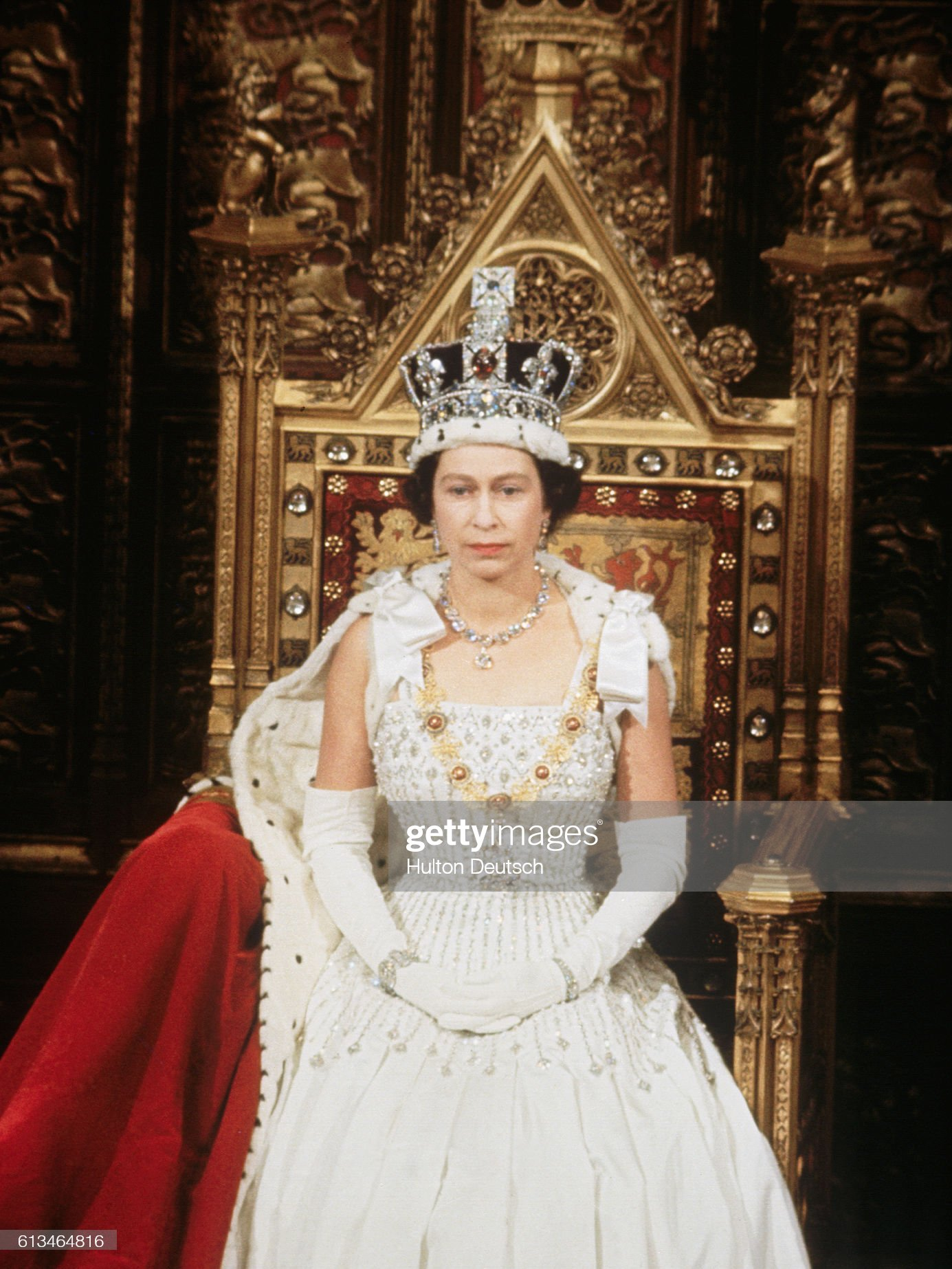 Queen at Opening of Parliament : News Photo
