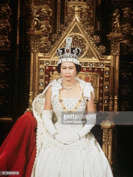 The Queen during the 1967 State Opening of Parliament