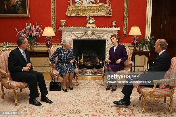 The Queen Elizabeth II and Prince Philip, Duke of Edinburgh meet Irish President Mary McAleese and her husband Dr. Martin McAleese at Hillsborough...