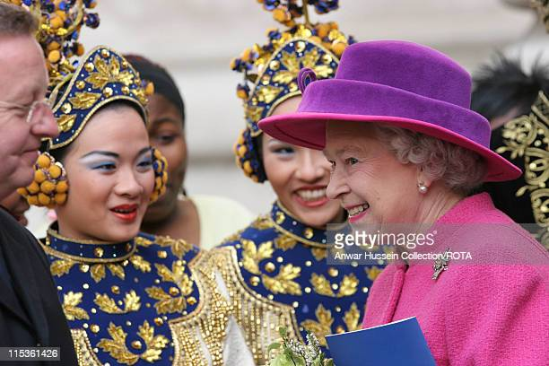 HM The Queen Elizabeth II at Westminster Abbey for an Observance of Commonwealth Day