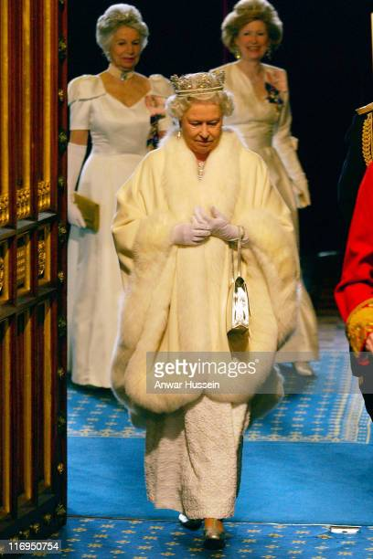 HM The Queen Elizabeth II attends the State opening of Parliament on Tuesday May 17 2005