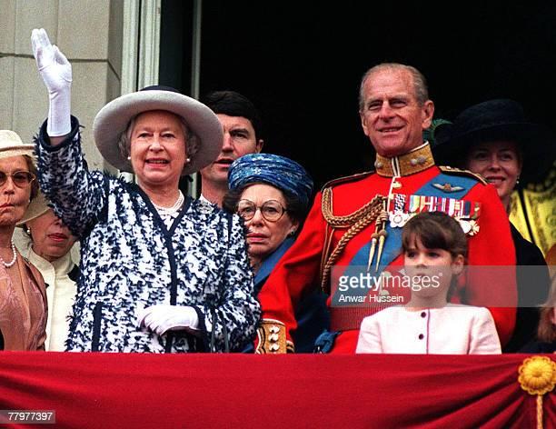 HM The Queen Elizabeth II Tim Laurence Princess Margaret The Duke of Edinburgh Princess Eugenie and Lady Helen Windsor