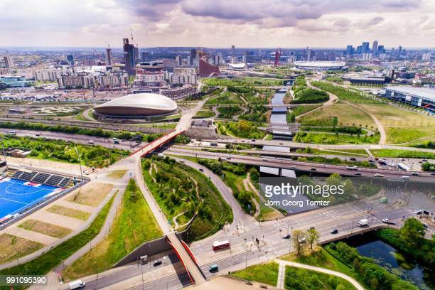 the queen elizabeth olympic park in london - stratford london stock pictures, royalty-free photos & images
