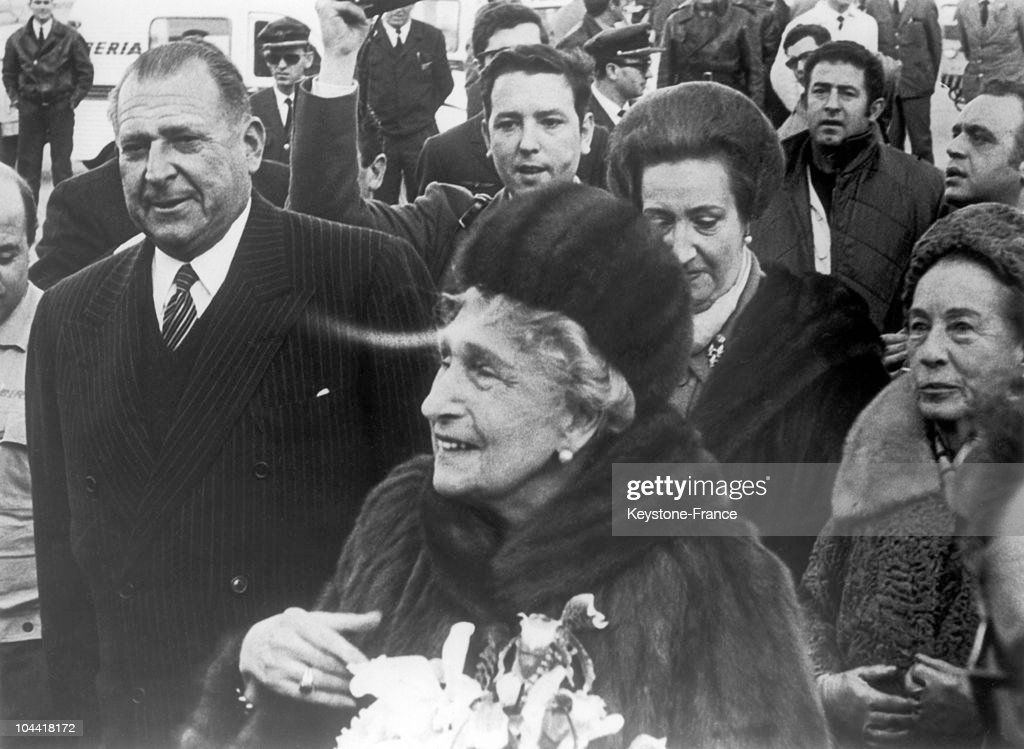 Former Queen Of Spain Eugenie Victoria In Madrid In 1968 : News Photo