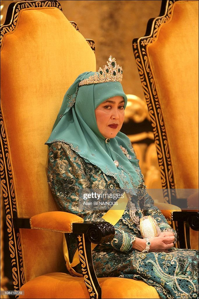 The sixtieth birthday celebration of the Sultan of Brunei, Hassanal Bolkiah and his new wife, Queen Azrina in Brunei Darussalam on July 15, 2006. : Nieuwsfoto's
