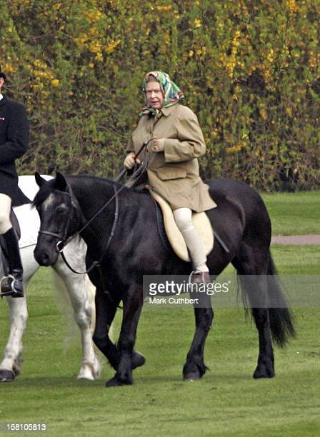 The Queen Horseriding In Windsor On Her 79Th Birthday