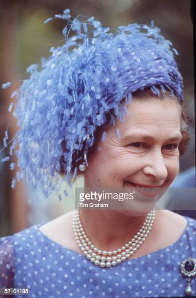The Queen In Tuvalu During Her Tour Of The South Pacific She Is Wearing A Hat My Milliner Frederick Fox