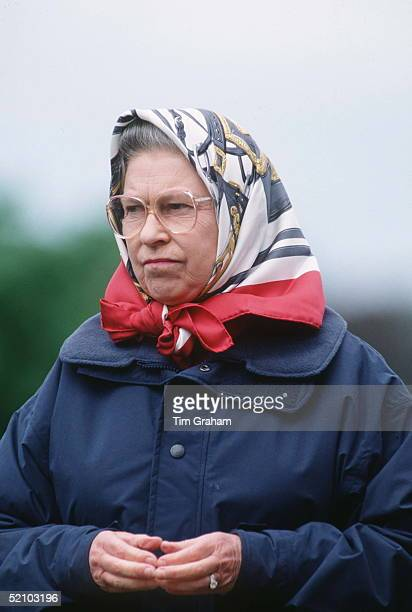 The Queen In Windsor Great Park Attending The Royal Windsor Horse Show