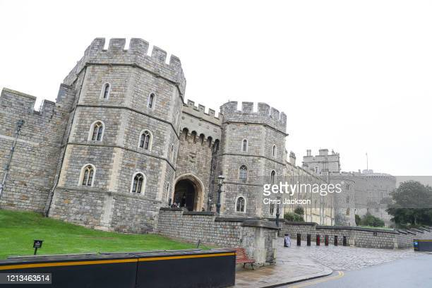 The Queen is expected back at Windsor today, the streets surrounding the castle quieter than usual at Windsor Castle on March 19, 2020 in Windsor,...