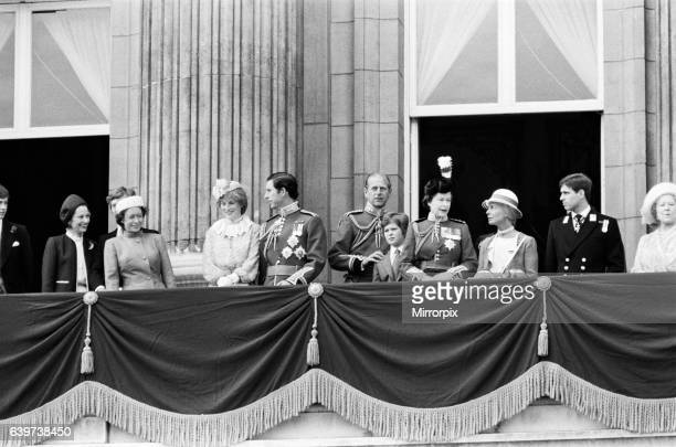 The Queen is joined on the balcony of Buckingham Palace following the Trooping of the Colour ceremony A pistol was fired whilst the Queen was...