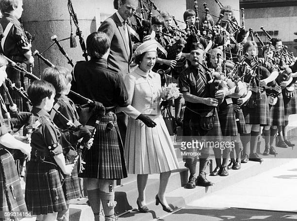 The Queen is touring Scotland as part of her Silver Jubilee celebrations 23rd May 1977