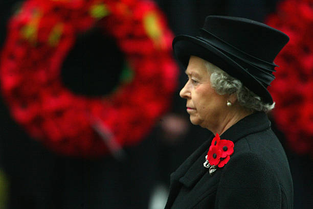 The Queen leads other members of The Royal family at the annual Remembrance Day service which took place at The Cenotaph in Whitehall on November 9...