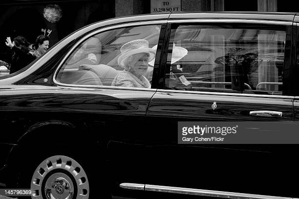 The Queen leaves St Paul's Cathedral after a thanksgiving service part of the celbrations of her Diamond Jubilee in London June 5 2012
