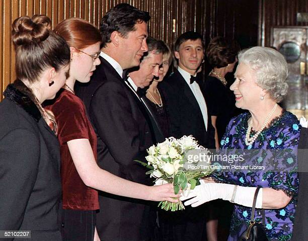 The Queen Meeting Sarah Mowat At A Concert At The Royal Festival Hall The Concert In Aid Of The Royal Academy Of Music And Great Ormond Street...