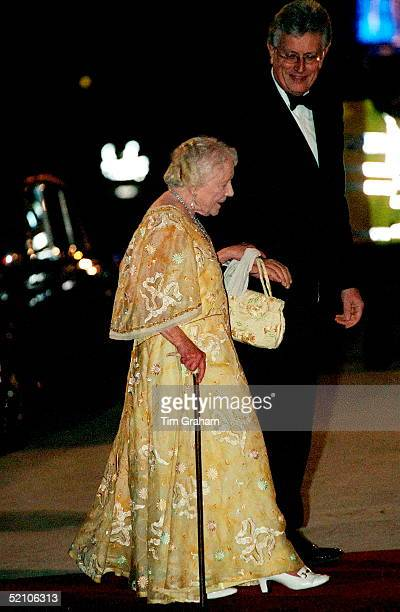 The Queen Mother Arriving At The Reopening Of The Royal Opera House In Covent Garden London