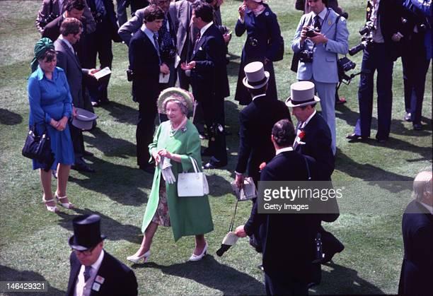 The Queen Mother at Ascot circa 1980