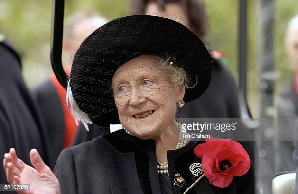 The Queen Mother At St Margaret's Church Westminster To Visit The Royal British Legion Field Of Remembrance