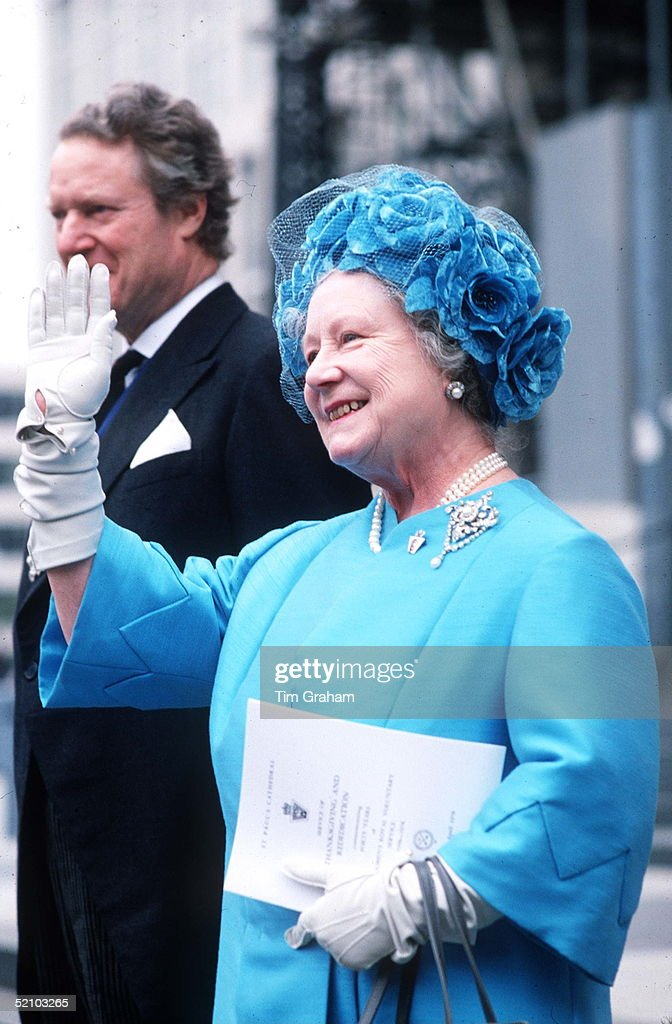 The Queen Mother At St Paul's Cathedral Circa 1980s