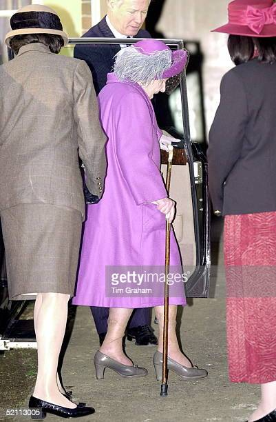 The Queen Mother Attending A Women's Institute Afternoon Tea At West Newton Village Hall On The Edge Of The Queen's Sandringham Estate