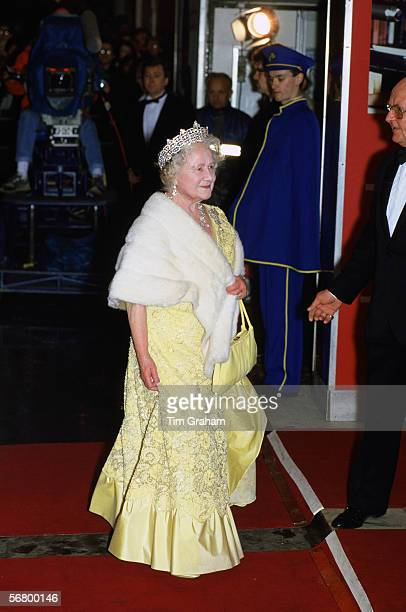 The Queen Mother attending the premiere of '84 Charing Cross Road' in London in the 1980s.