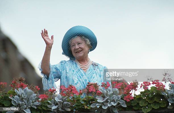 The Queen Mother celebrates her 87th birthday, London, 4th August 1987.