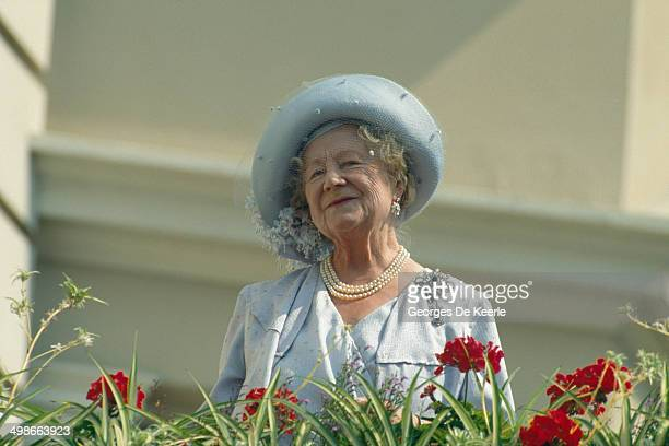 The Queen Mother celebrates her 90th birthday in London, UK, 4th August 1990.