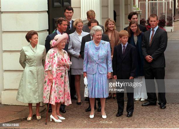 The Queen Mother celebrates her 97th birthday with members of the Royal family at Clarence House today Princess Margaret Queen Mother The Queen...