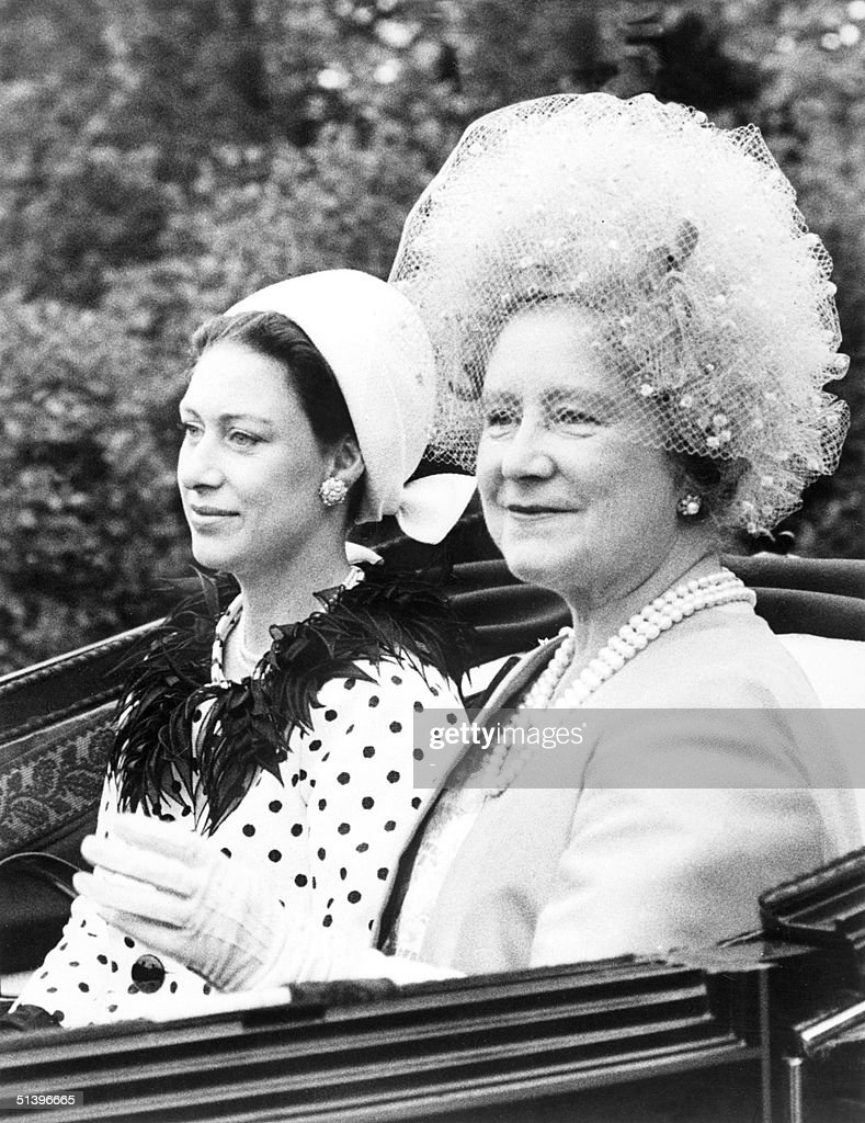 The Queen Mother Elizabeth R And Princess Margaret Younger Sister Of Britain S