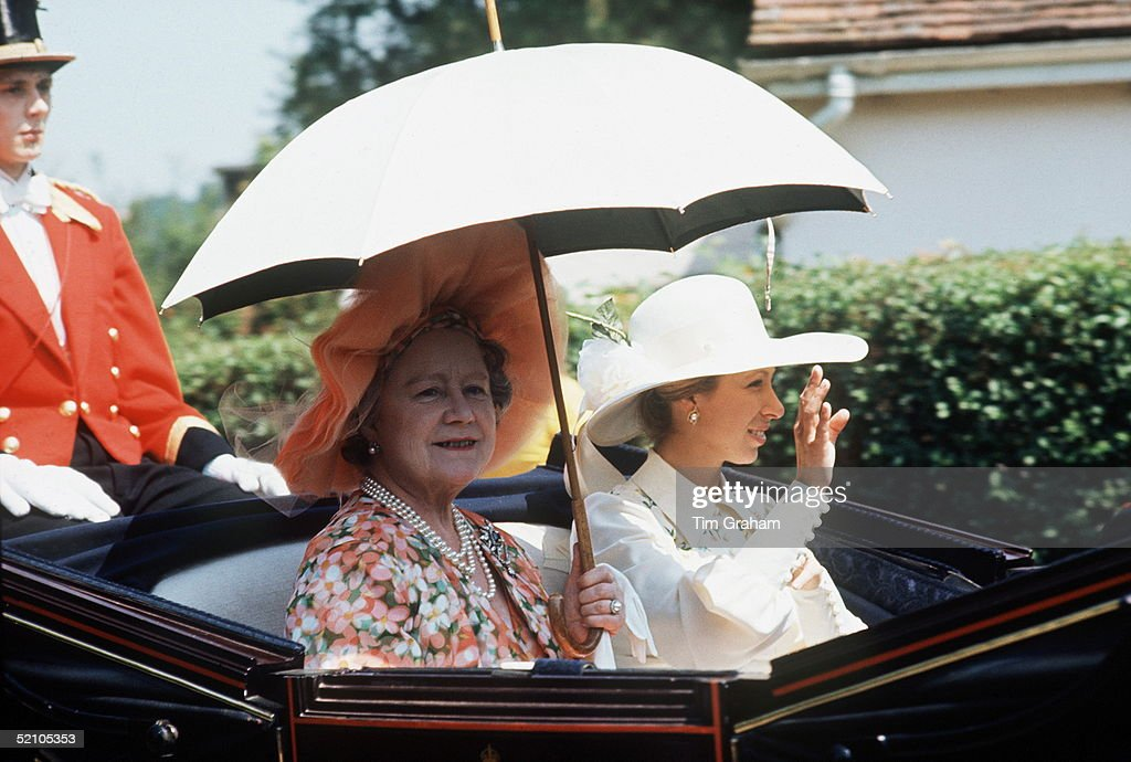 Queen Mother And Anne Ascot : News Photo