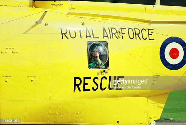 The Queen Mother is taken by Royal Air Force Rescue helicopter to Aberdeen Infirmary with a fish bone lodged in her throat on August 15 1986 in...